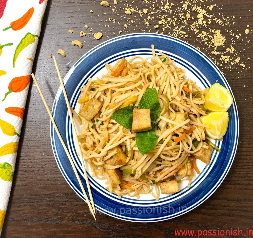 Vegetable Pad Thai Noodles