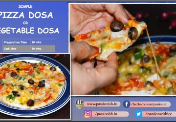 Pizza Dosa or Vegetable Dosa