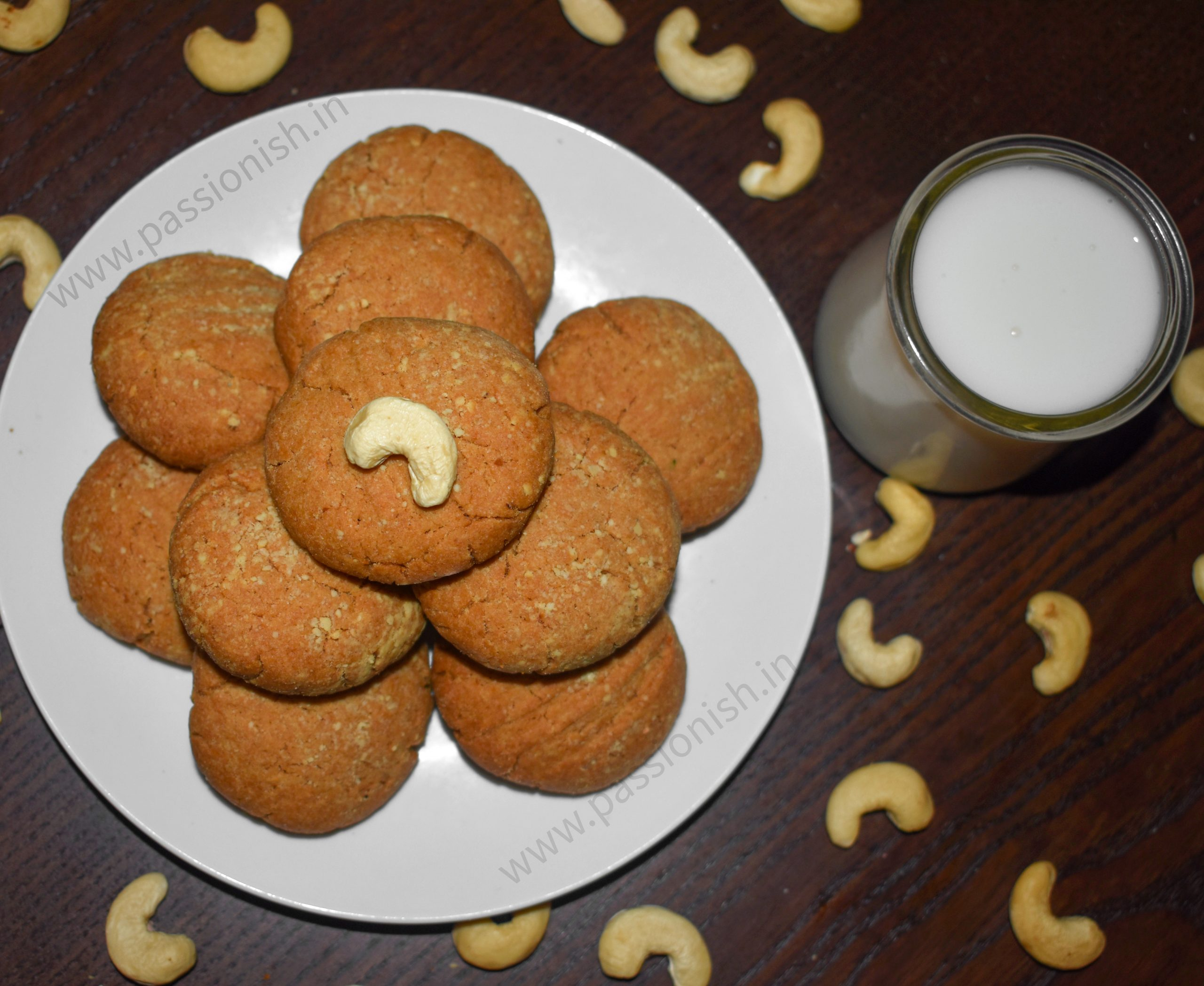 Whole Wheat Butter Cookies or Butter Biscuits